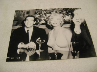 Rare Sexy Marilyn Monroe in Low Cut Dress Black and White 8 by 10