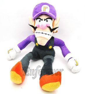 12 Super Mario Bros WALUIGI Soft Plush Toy Doll^MT103