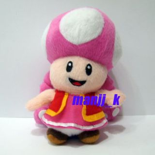 NEW 17cm Super Mario Bro Plush Doll Figure Toadette