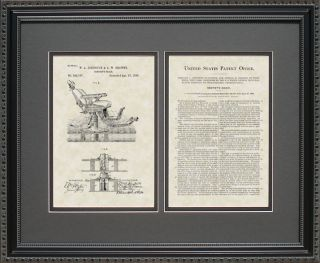 Patent Art   Dentist Chair   Dentist Dental Hygentist Assistant Print