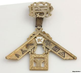 1960 Past Master Multi Symbol Masonic Jewel   Fraternal Masons Medal