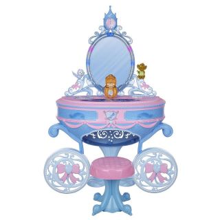 DISNEY PRINCESS CINDERELLA LIGHTED VANITY PLAYSET NEW