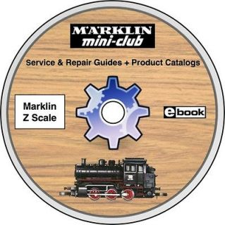 MARKLIN Z Scale Service & Repair Guides on CD mini club