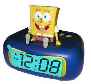 Nickelodeon Spongebob Squarepants Kids LCD Alarm Clock