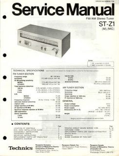 Newly listed Technics Original ST AV500 Tuner Service Manual.