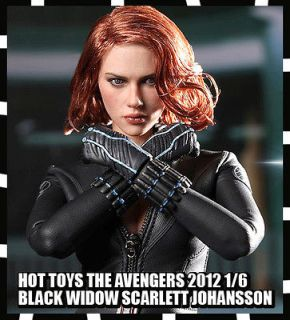 HOT TOYS THE AVENGERS 2012 BLACK WIDOW SCARLETT JOHANSSON NEW 1/6