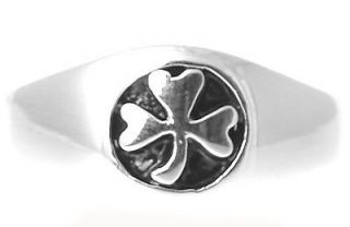 Sterling Silver Shamrock Mens Ring Irish Made celtic sz 10 11 9 8 13 7