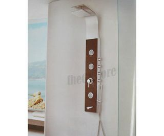 New Stainless Steel Massage Jet Shower Panel with Tempered Glass front