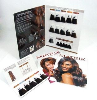 Matrix Imagine All You Can Be Hair Color Swatch Book Wonder Brown Dark