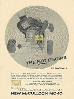 Vintage & Rare 1960 McCulloch MC 10 Go Kart Ad