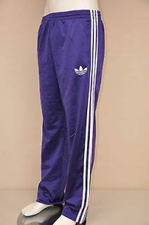 Adi Firebird College Purple / White Stripe Mens Track Pants XL