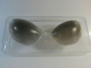ADHESIVE GEL BRA INSERTS BREAST FORMS STRAPLESS BACKLESS BLACK ABC