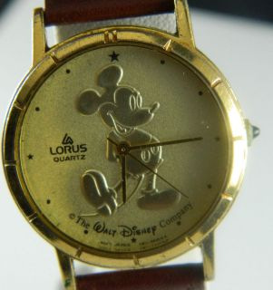 lorus gold mickey mouse watches in Jewelry & Watches