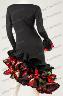 Spanish flamenco dress latin dance dress