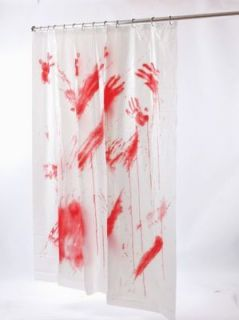 BLOOD BLOODY SHOWER CURTAIN SCARY BATHS PSYCHO HOTEL CRIME SCENE