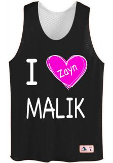 malik pinnie with pink heart mesh jersey tshirt one directioN harry