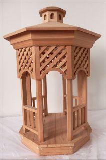Beautiful Dollhouse Gazebo Wood miniature outdoor furniture Prebuilt