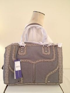 NWT REBECCA MINKOFF MAB MINI BOMBE GREY DENIM BAG SATCHEL HANDBAG MSRP