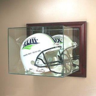 New Wall Mounted F/S Football Helmet Display Case GLASS NFL UV NCAA