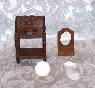 VINTAGE DOLLHOUSE MINIATURE CONCORD COUNTRY WASH STAND FURNITURE #3778