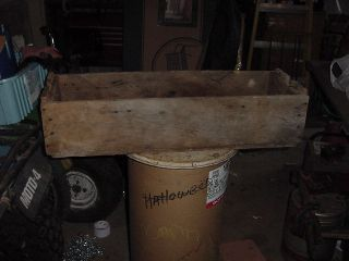 ANTIQUE WOOD TOOLBOX TOOL BOX CHEST MILITARY 1959 VINTAGE