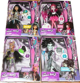 Monster High Doll Draculaura Frankie Stein Cleo Clawdeen Ghouls Rule
