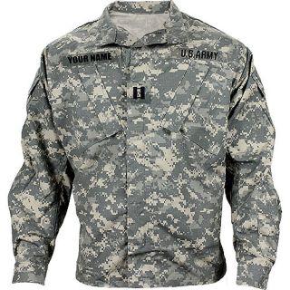 Army Combat Uniform Coat w/ Custom Nametape   Costume/Paintball