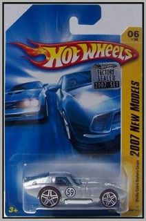 2007 Hot Wheels # 006 Shelby Cobra Daytona Coupe Silver