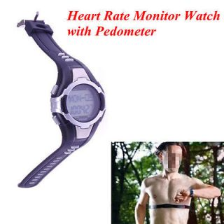 New Pulse Heart Rate Monitor with Pedometer and Backlight Watch