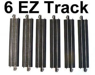 HO SCALE MODEL RAILROAD TRAINS LAYOUT BACHMANN EZ TRACK STEEL 6 9 IN