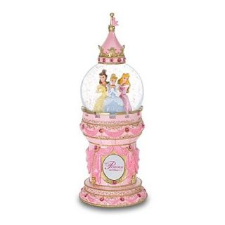 Disney Parks Princess Cinderella Belle Aurora Tower Mini Snowglobe NEW