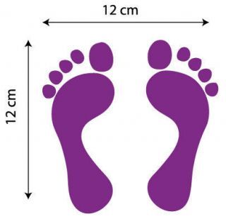 FOOTPRINTS CAR BIKE SCOOTER MOTOR GRAPHICS COLOURS STICKERS DECALS