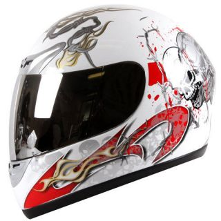 Spike Blood Skull Street Bike Motorcycle Helmet Full Face DOT S/M/L/XL