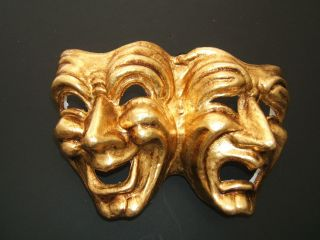 MAR COMEDY/TRAGEDY VENETIAN MASQUERADE THEATRICAL DRAMA WALL ART MASK