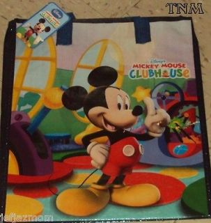 MICKEY MOUSE CLUBHOUSE LARGE WOVEN REUSABLE TOTE BAG♥♦♥BRAND NEW