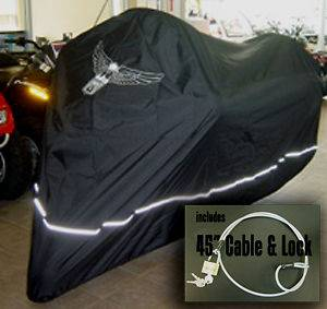 Harley Heritage Softail Motorcycle Cover w/Eagle logo.