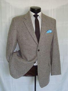 Exquisite Brown tweed wool super 100s Jack Victor jacket 42 R