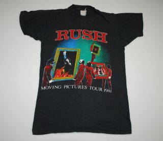 VINTAGE RUSH MOVING PICTURES TOUR 81 T  SHIRT 1981 1980S XS ORIGINAL