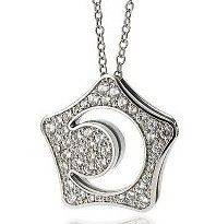 SP2550 Korean Boys Before Over Flowers Moon & Star Charm Necklace NWT