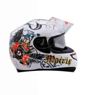 Black Yellow Butterfly Dual Visor Full Face Motorcycle Street Helmet