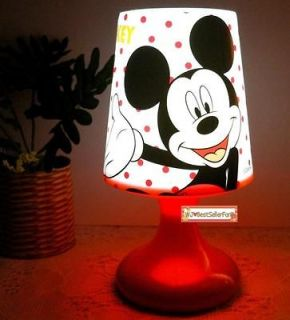 Functions Mickey Minnie Mouse Twilight Night Light Kids Sleep LED
