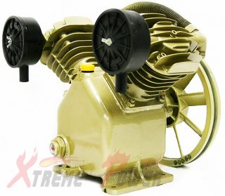 11.2 CFM 120 PSI TWIN CYLINDER AIR COMPRESSOR PUMP For 3HP MOTOR