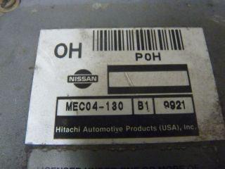 1998 1999 2000 NISSAN FRONTIER ECU ECM ENGINE COMPUTER MEC04 130