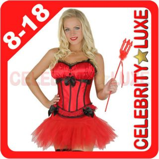 Black Red Satin Lace Corset Costume Moulin Rouge Skirt Petticoat Tutu
