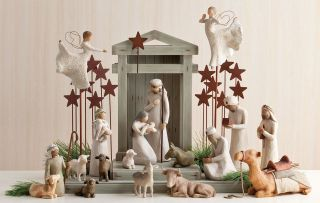 Demdaco Willow Tree Nativity Collection   18 Piece Set