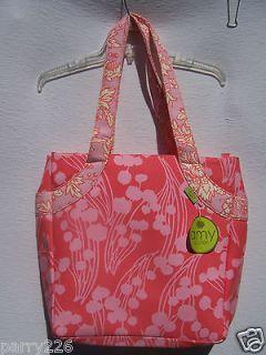 Company amy butler lotus tea box pink flower scrapbooking tote bag nwt