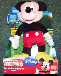 Mickey Mouse Clubhouse   12 Bendable Buddies Plush Childrens Doll