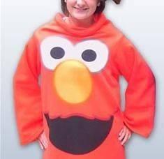 Sesame Street Elmo Puppet Show Fleece Snuggie Blanket Pajama Robe