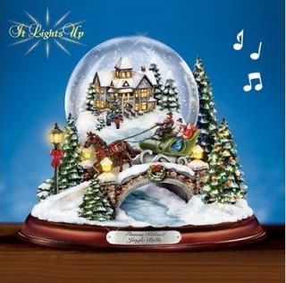 Christmas 01 09467 001 JINGLE BELL ILLUMINATED MUSICAL SNOW GLOBE