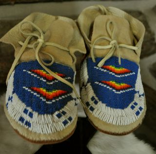 native american beaded moccasins in Clothing & Moccasins
